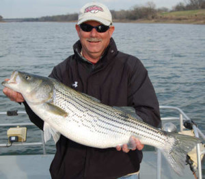 Fishing report march 23 2009 lake texoma striper guide for Texoma fishing report